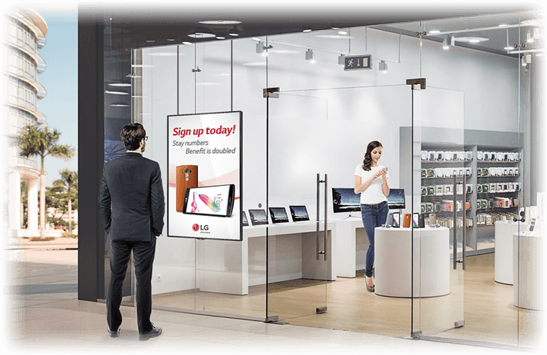 VETRINA digitale negozio